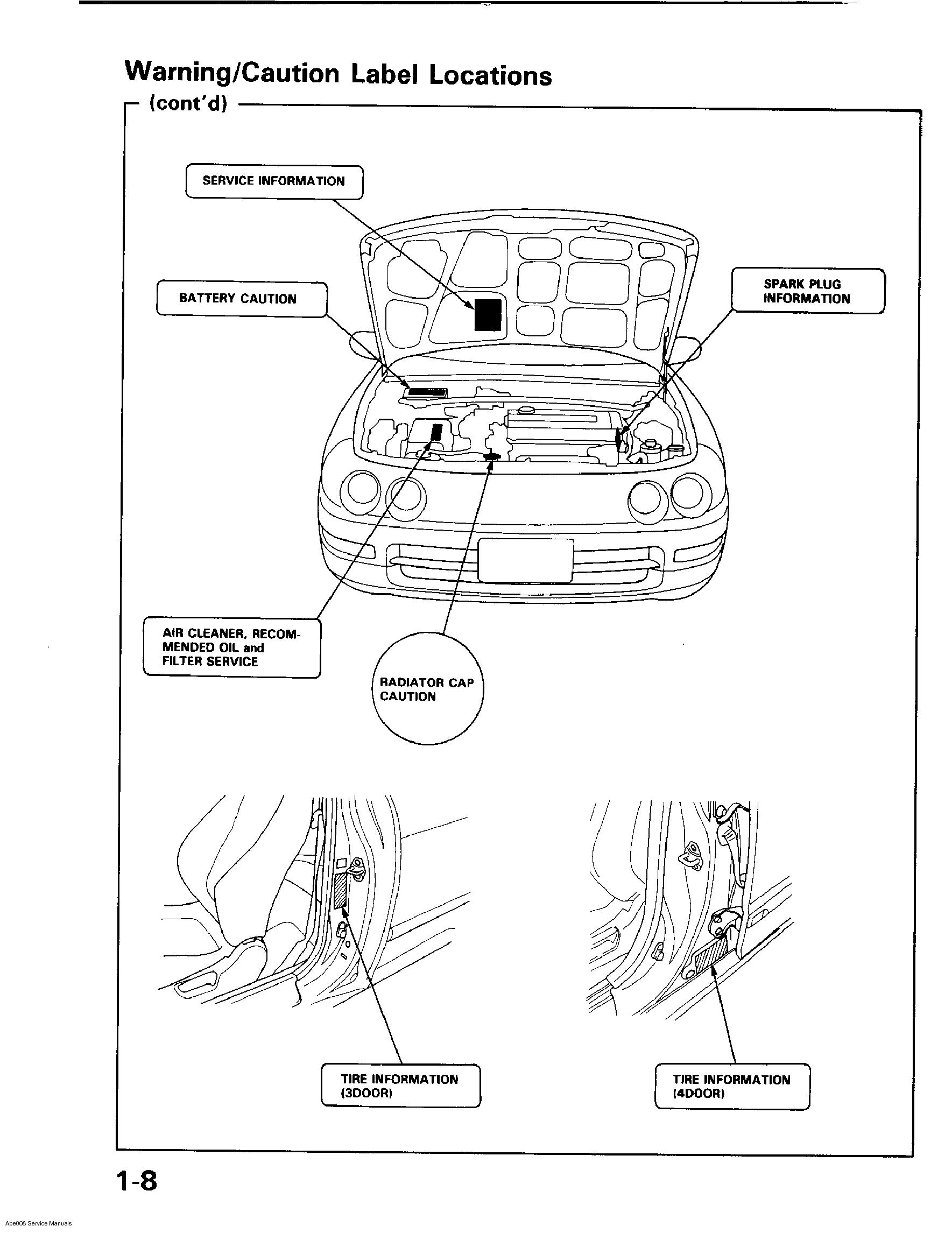 ... Acura Integra 1994 - 2000 Service Manual ...