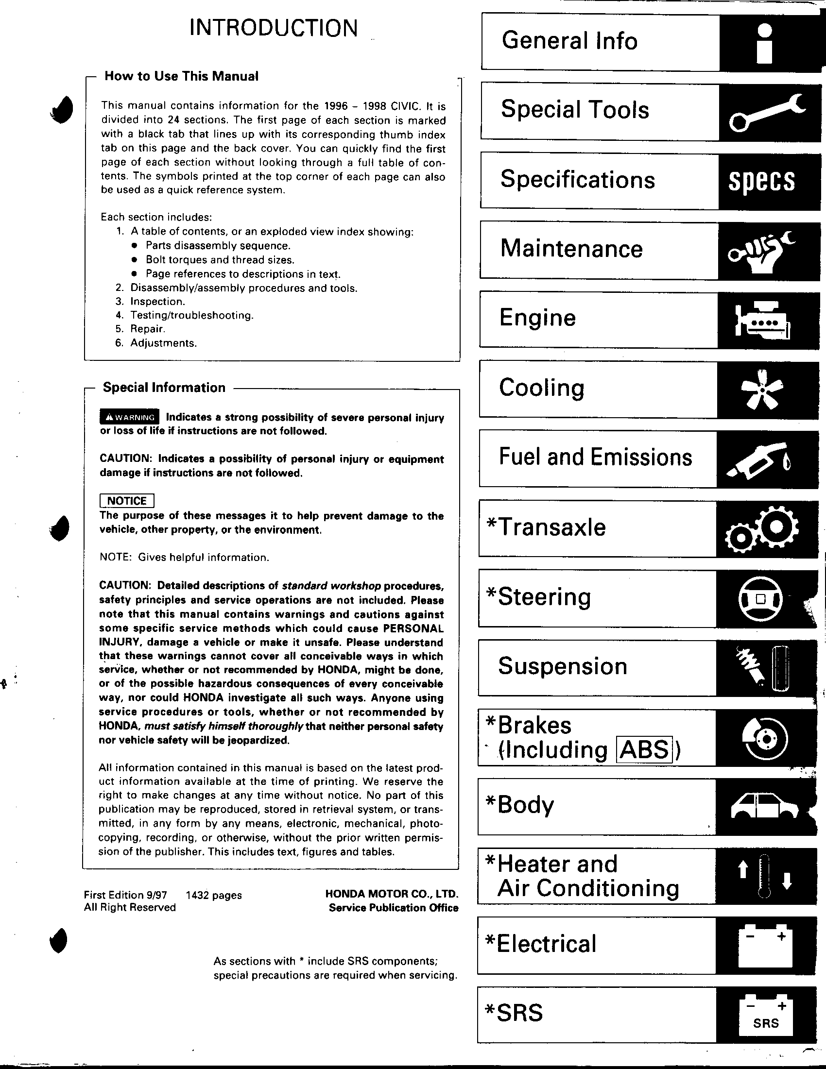 honda civic  96 98  service manual pdf