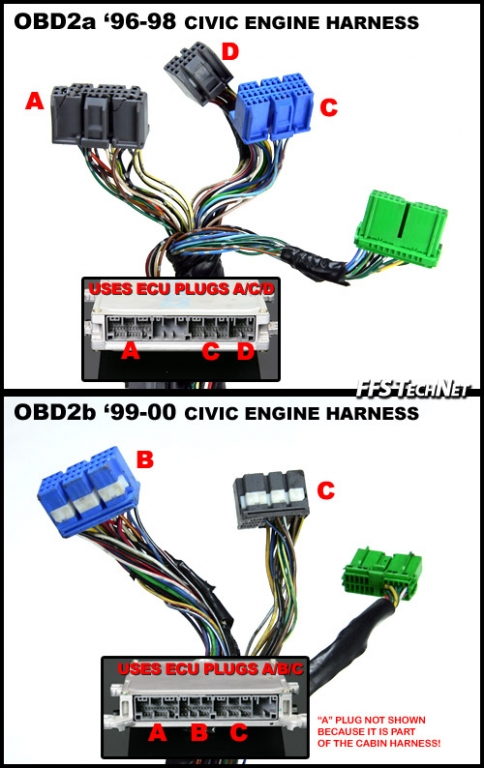 Wiring diagram needed for GREEN PLUG 14 pin ecu side. - Honda-Tech - Honda  Forum DiscussionHonda-Tech