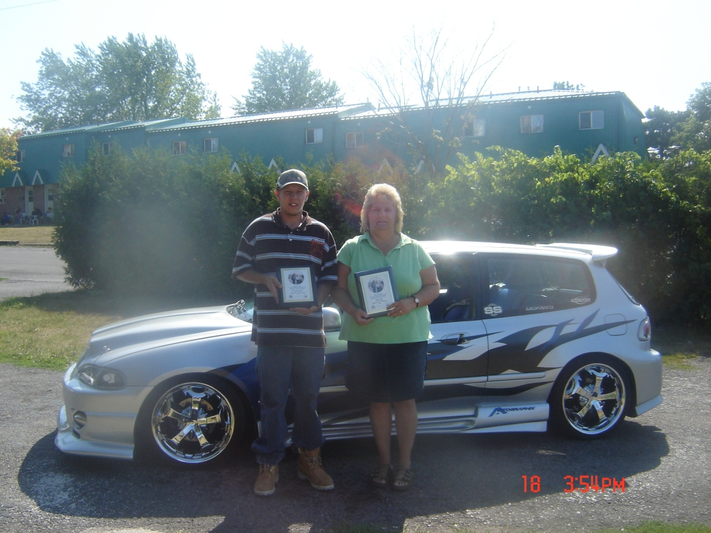 (MOM&SON)took first at car show