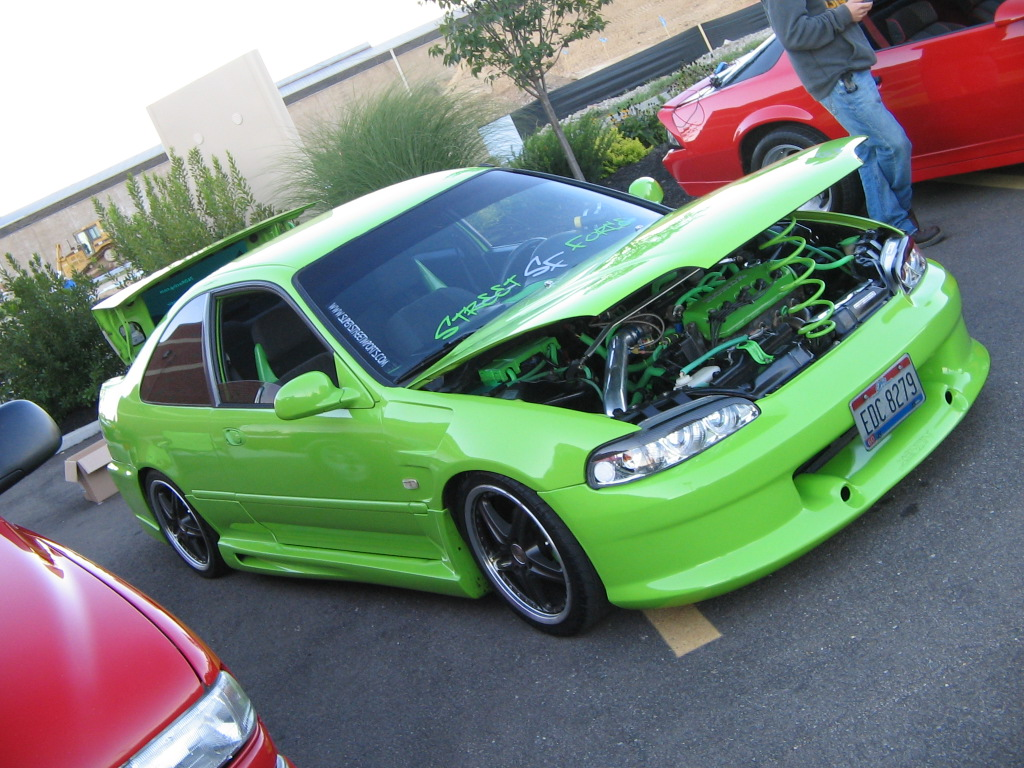 my civic at a car show