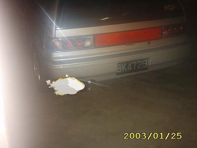Split Fire From Bruneian Car