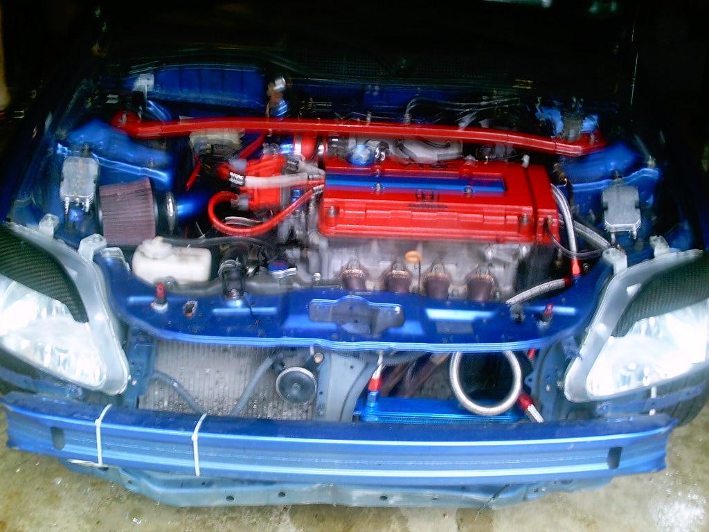 Oil Cooler And Motor Setup