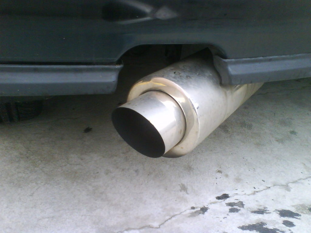 The Stainless Steel 4 Inch Cannon On An Asian Angle That Came With The Civic, I Bought A Silencer Fo