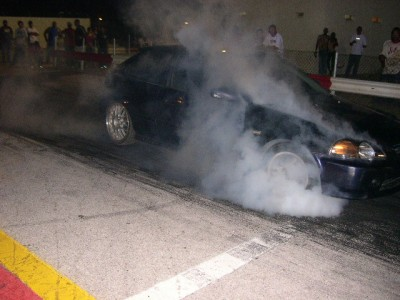 burnout at the track