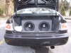 "pic of my subs, 2 12"" jl audio and amp by civicgurl9706"