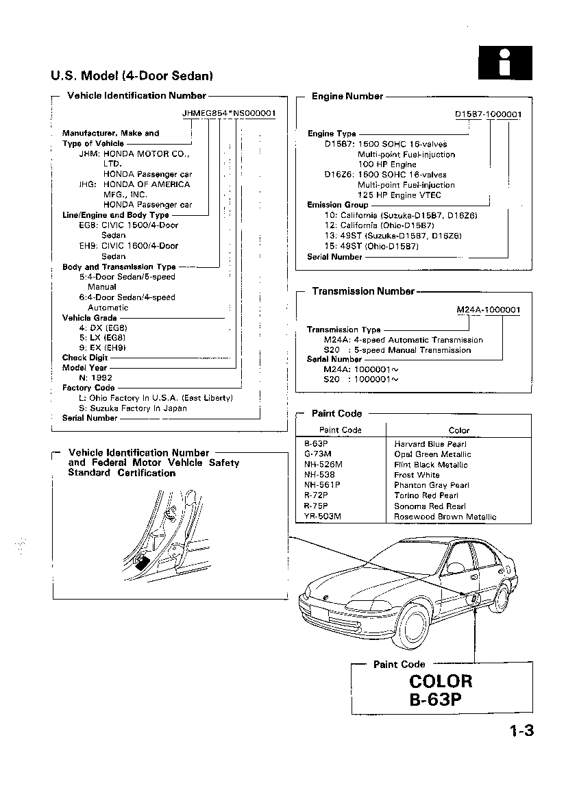 1995 Honda Civic Electrical Troubleshooting Manual Original Service 1992 Downloads