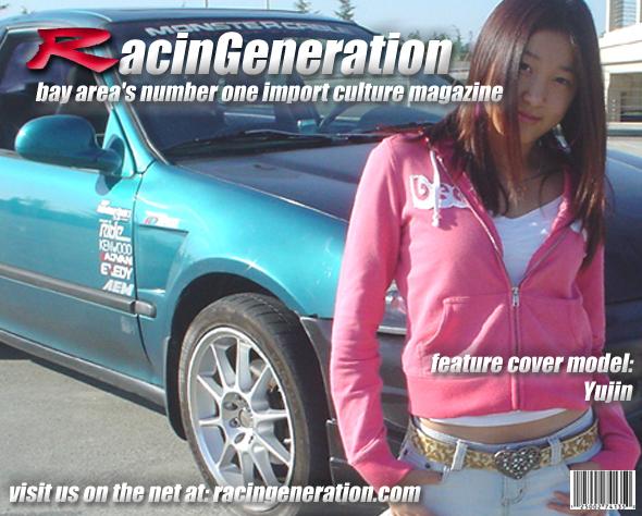 RacinGeneration promotional vehicle w/ model