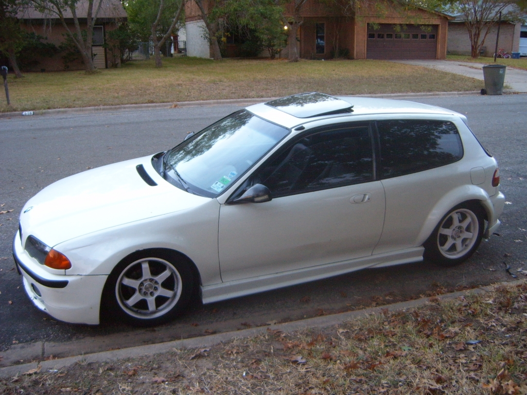 1994 Civic HB with 2002 3 series front pic2